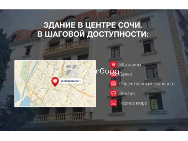 Инвестиции в Капсульный отель в центре Сочи с доходностью 597% за 5 лет.